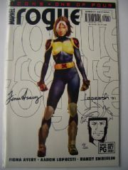 Rogue #1 Dynamic Forces Signed Fiona Avery & Aaron Lopresti Re-marked Gambit sketch COA Ltd 25!